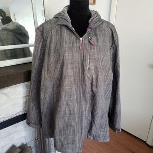 Zero Exposure gray zip up jacket. Size 3X